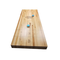 18 Foot shuffleboard Butcher Block Play Field