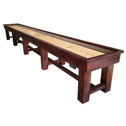 22 Foot Ponderosa Pine Shuffleboard Table