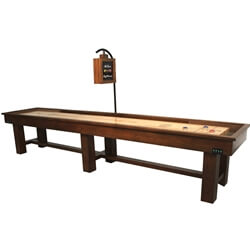 18 Foot Ponderosa Oak Shuffleboard Table