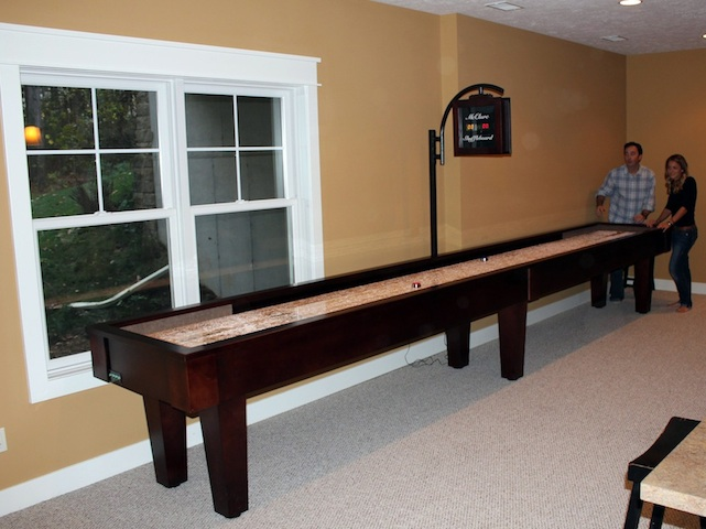 Merveilleux Shuffleboard Table Room Requirement